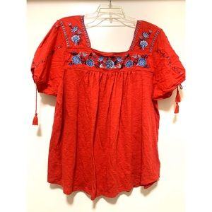 Beautiful embroidered flower blouse